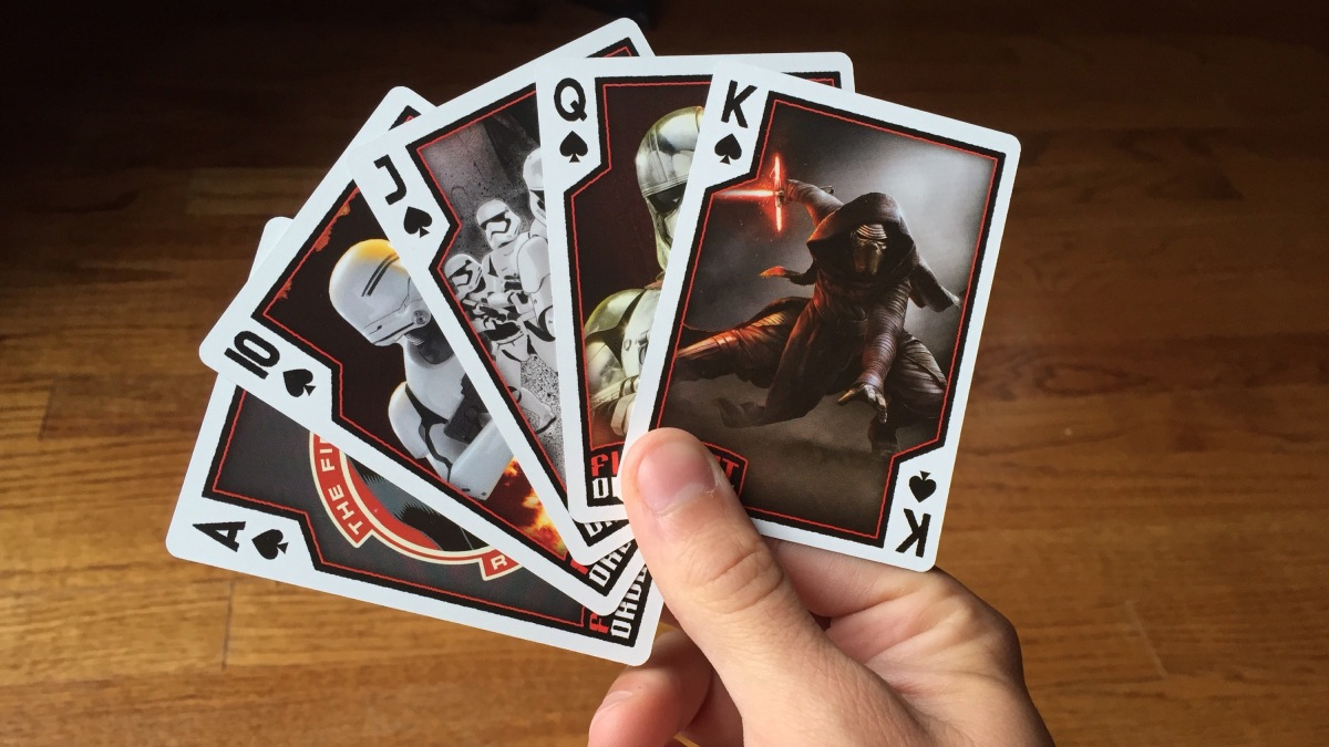 New Star Wars: The Force Awakens Promo Art Appears on Playing Cards